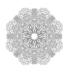 Floral lace motifs mandala relax coloring vector