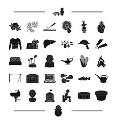Food profession and other web icon in black style vector