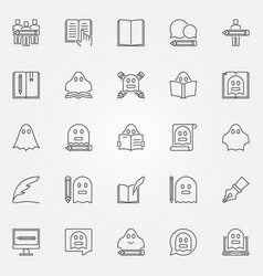 ghostwriter icons set vector image