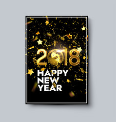 Happy new 2018 year poster template vector