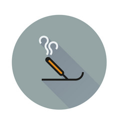 Incense icon on round background vector