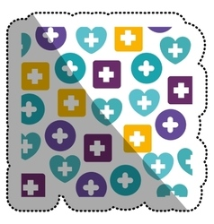 Isolated cross of medical care design vector