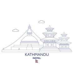 Kathmandu city skyline vector
