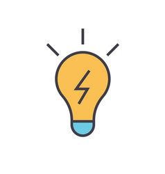 Lamp idea concept line icon editable vector