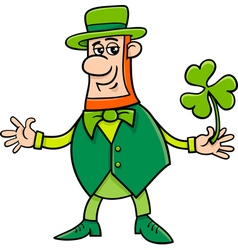 leprechaun on st patrick day vector image