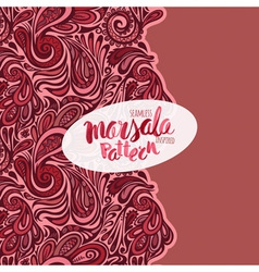 Marsala inspired trendy patternfashionable vector