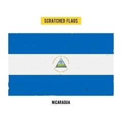 Nicaraguan grunge flag vector