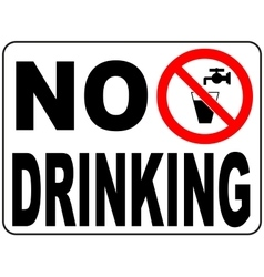 Not drinking water sign- Non-potable water vector image