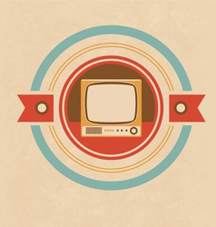 Old Television vector image