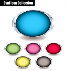 oval collection vector image