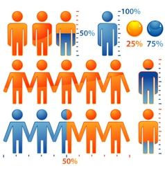 people population icons vector image
