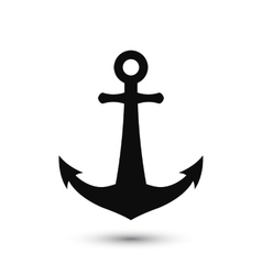 PrintSimple anchor silhouette vector image vector image