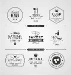restaurant retro vintage vector image vector image