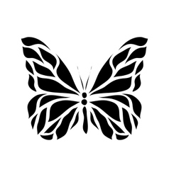 Retro floral butterfly background vector