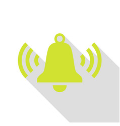 Ringing bell icon pear icon with flat style vector