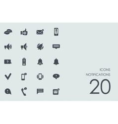 Set of notifications icons vector