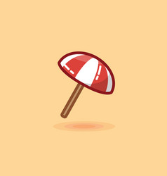 umbrella on beach icon vector image
