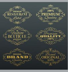 Vintage banners labels frames vector