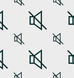 Without sound mute icon sign seamless pattern with vector