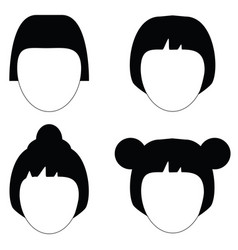 woman hair hairstyle silhouette vector image vector image