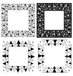 Zen tangle frames vector