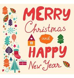 Merry xmas happy new year vector