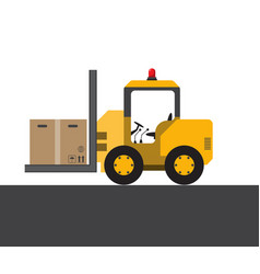Colorful transport with boxes vector