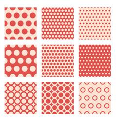 Seamless patterns polka dots set vector
