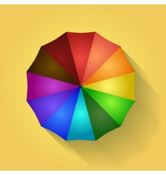 Colored umbrella vector