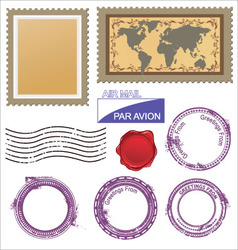 postage stamps set vector image