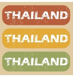 Vintage thailand stamp set vector