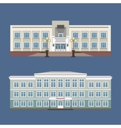 Set of two of vintage house vector