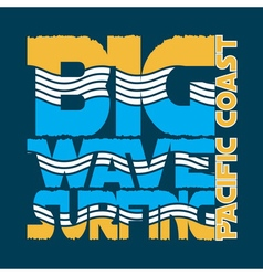 surf big wave vector image