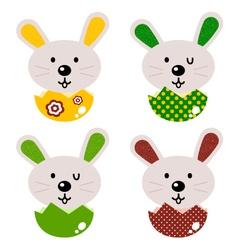 Cute baby bunnies vector image
