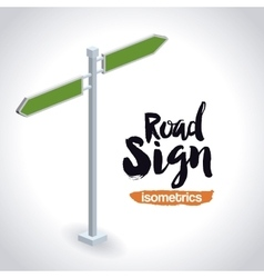 Isometrics road sign design vector