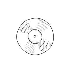 Disc sketch icon vector
