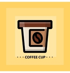 Flat coffee icon vector