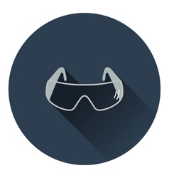 Icon of chemistry protective eyewear vector