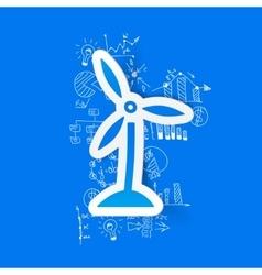 Drawing business formulas wind turbines vector