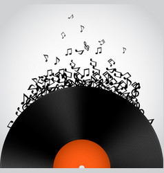 Abstract music background vinyl disk vector