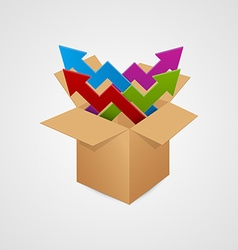 Box with arrow business concept vector