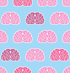 Brains seamless pattern Background of organs of vector image
