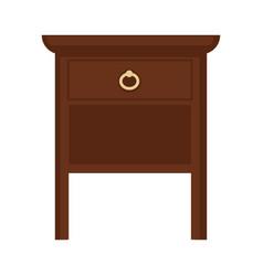 Brown wooden furniture vector