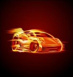 cartoon sport car vector image