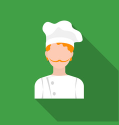 Chef icon in flat style isolated on white vector