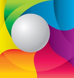color background with ball vector image