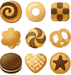 cookie icons vector image vector image