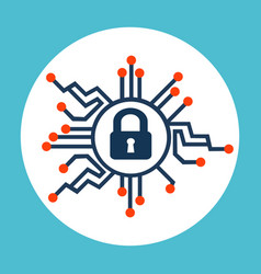 cyber security icon vector image vector image