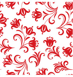 Floral pattern ornamental flower seamless vector
