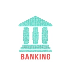 Green banking icon from different points vector